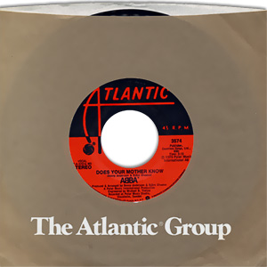 Classic 45 Record: Does Your Mother Know/ Kisses of Fire by Abba (Atlantic 3574, 1979)