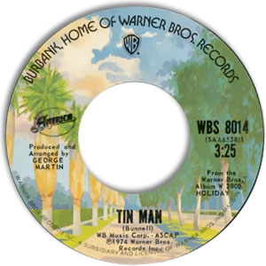 Classic 45 Record: Tin Man/ In The Country by America (WB 8014, 1974)
