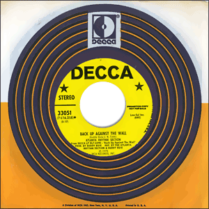 Classic 45 Record: Back Up Against The Wall by Atlanta Rhythm Section (Decca 33051, 1973)