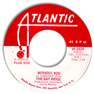 Classic 45 Record: Without You/ I Will Wait by The Bay Ridge (Atlantic 2520, 1968)