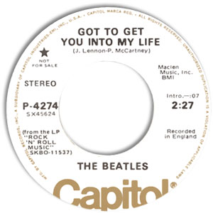 Classic 45 The Beatles Got To Get You Into My Life