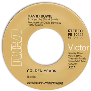 David Bowie - Golden Years/ Can You Hear Me