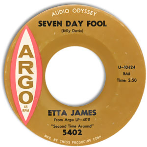 Seven Day Fool/ It's Too Soon To Know