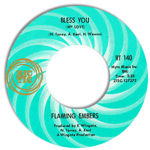 Classic 45 Record: Bless You (My Love) by Flaming Embers (Ric-Tic 140, 1968)