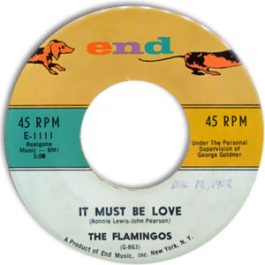 Flamingos - It Must Be Love/ I'm No Fool Anymore