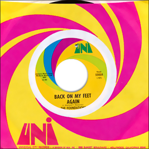 Classic 45 Record: Back on My Feet Again/ I Can Take Or Leave Your Loving by The Foundations (Uni 55058, 1968)