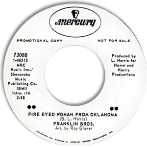 Fire Eyed Woman From Oklahoma/ Some Monday Morning
