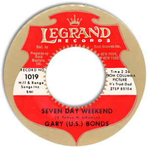 Seven Day Weekend/ Gettin' A Groove