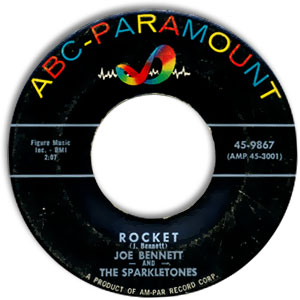 Classic 45 Record: Penny Loafers And Bobby Socks/ Rocket by Joe Bennett and the Sparkletones (ABC-Pmt. 9867, 1957)