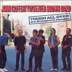 Classic 45 Record: Tough All Over/ Strangers in Paradise by John Cafferty and the Beaver Brown Band (Scotti Bros. 04891, 1985)