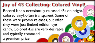 The Joy of 45 Record Collecting: Colored Vinyl Gallery!