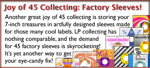 The Joy of 45 Record Collecting: Eye-Catching Factory Sleeves!