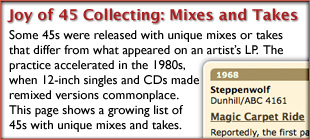 Classic 45's on the Web: Rare 45 records store featuring