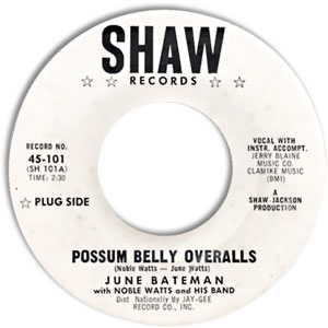 Possum Belly Overalls/ Go Away Mr. Blues