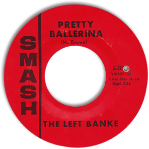 Classic 45 Record: Pretty Ballerina/ Lazy Day by The Left Banke (Smash 2074, 1967)