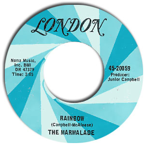 Classic 45 Record: Rainbow/ The Ballad of Cherry Flavarr by The Marmalade (London 20059, 1970)