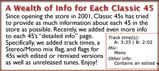 Now Each Classic 45s Info Page Is Even More Detailed!