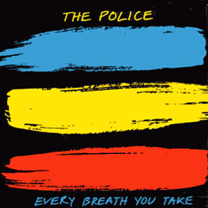 Classic 45 Record: Every Breath You Take/ Murder by Numbers by The Police (A&M 2542, 1983)