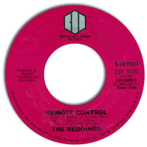 Classic 45 Record: Remote Control/ The Awakening by The Reddings (Believe 5600, 1980)