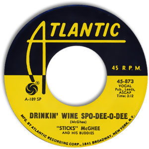 Drinkin' Wine, Spo-Dee-O-Dee/ Blues Mixture (I'd Rather Drink Muddy Water)