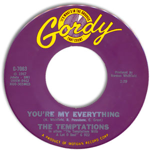 Classic 45 The Temptations You Re My Everything I Ve