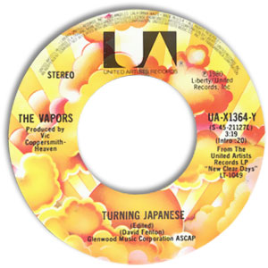 Classic Modern Rock 45 The Vapors Turning Japanese