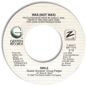 Classic 45 Record: Smile/ The Party Broke Up by Was (Not Was) (Geffen 29477, 1983)