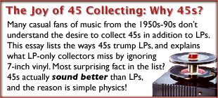 The Joy of 45 Record Collecting: Why Collect 45s?